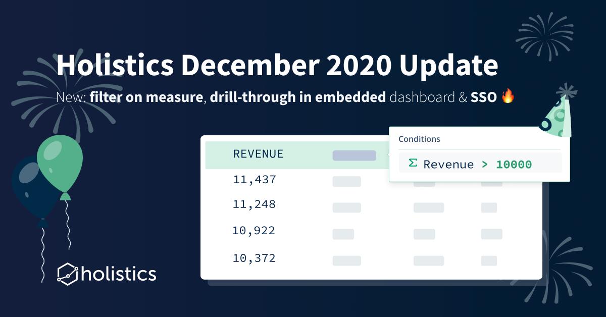 Holistics December 2020 Product Updates 🎉
