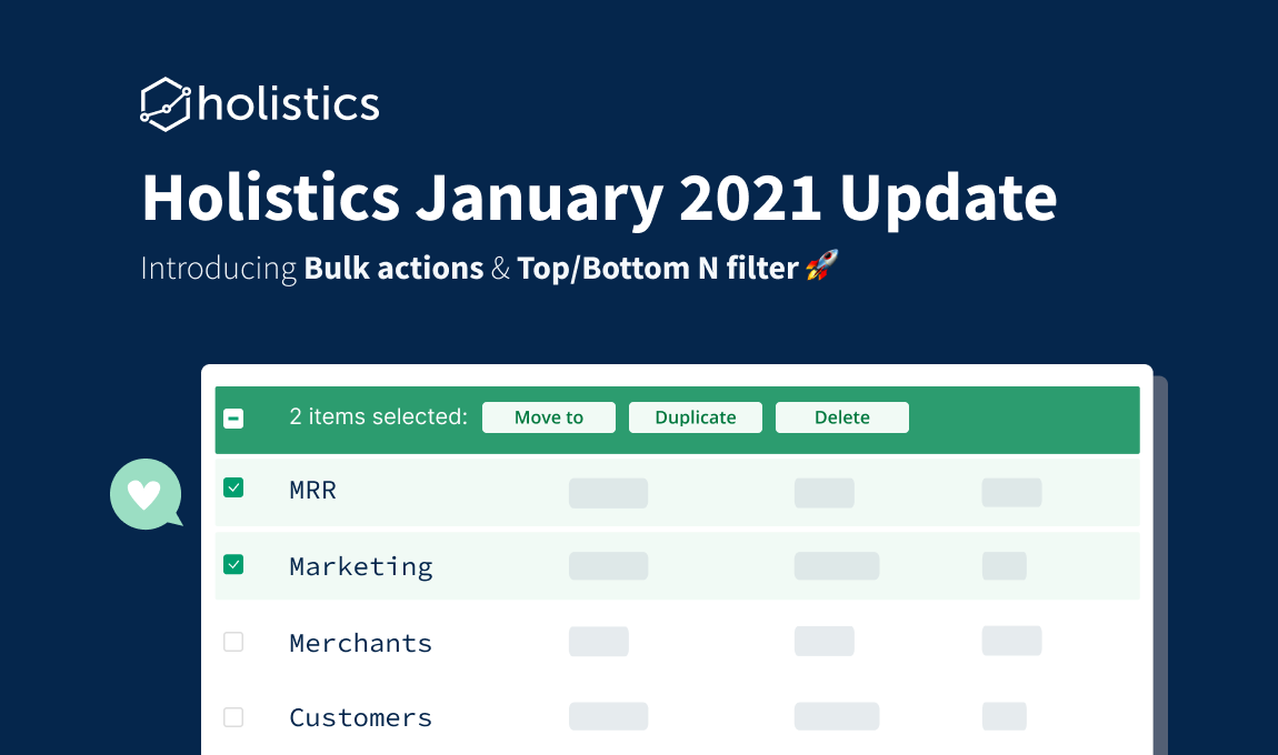 Holistics January 2021 Product Updates 🎉