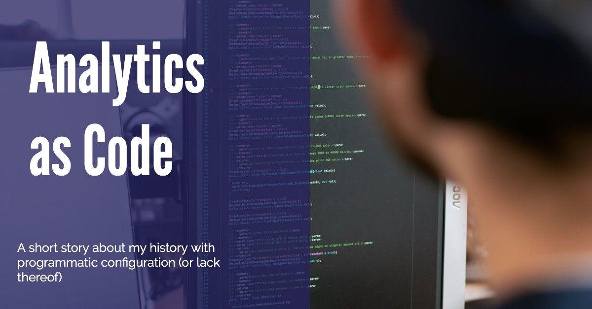 Analytics as Code