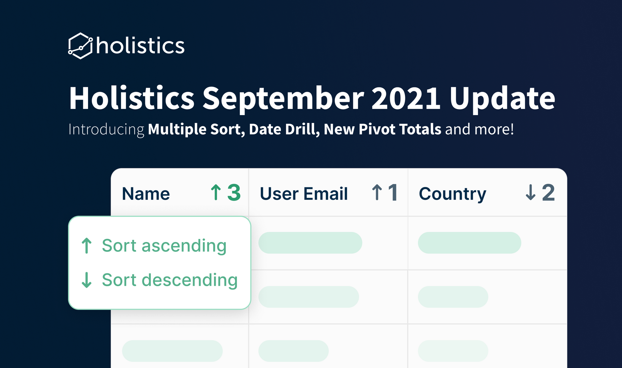 Holistics September 2021 Product Updates